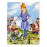 Alice Becomes Queen Alice in Wonderland Postcard