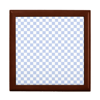 Alice Blue Checkerboard in English Country Garden Large Square Gift Box