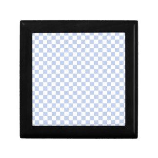 Alice Blue Checkerboard in English Country Garden Small Square Gift Box