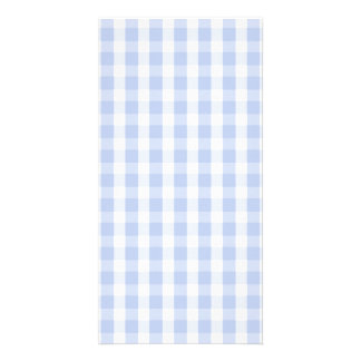 Alice Blue Gingham in an English Country Garden Photo Card