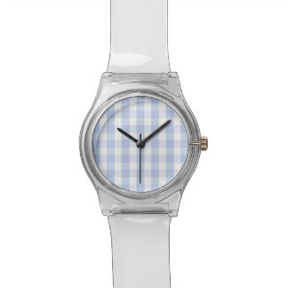 Alice Blue Gingham in an English Country Garden Wristwatch