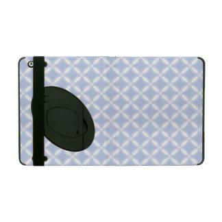 Alice Blue Quatrefoil in an English Country Garden iPad Case