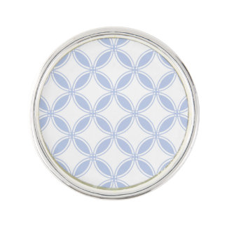 Alice Blue Quatrefoil in an English Country Garden Lapel Pin
