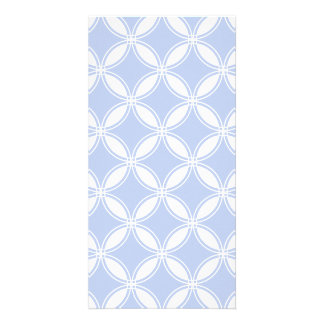 Alice Blue Quatrefoil in an English Country Garden Picture Card