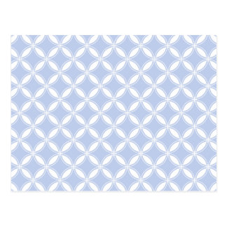 Alice Blue Quatrefoil in an English Country Garden Postcard