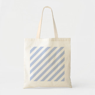 Alice Blue Tent Stripe in English Country Garden Budget Tote Bag