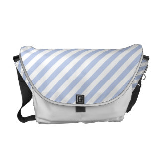 Alice Blue Tent Stripe in English Country Garden Commuter Bag