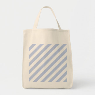 Alice Blue Tent Stripe in English Country Garden Grocery Tote Bag