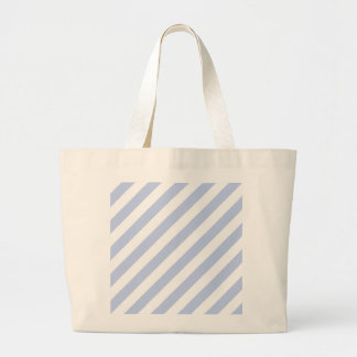 Alice Blue Tent Stripe in English Country Garden Jumbo Tote Bag