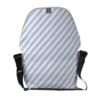 Alice Blue Tent Stripe in English Country Garden Courier Bags