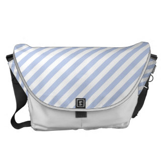Alice Blue Tent Stripe in English Country Garden Messenger Bags
