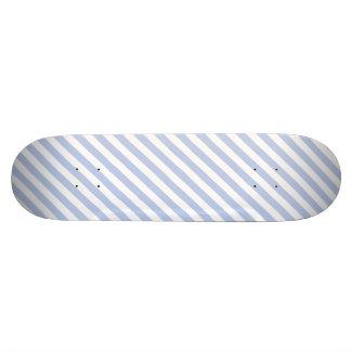 Alice Blue Tent Stripe in English Country Garden Custom Skateboard