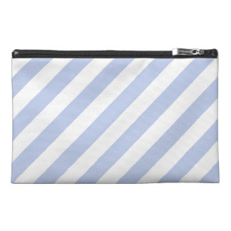 Alice Blue Tent Stripe in English Country Garden Travel Accessory Bags