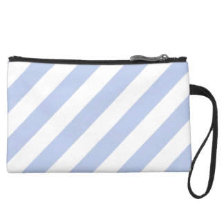 Alice Blue Tent Stripe in English Country Garden Wristlet Clutches