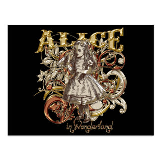 Alice Carnivale Style (Gold Version) Postcard