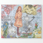 Alice Cheshire Cat and Rabbit Wrapping Paper