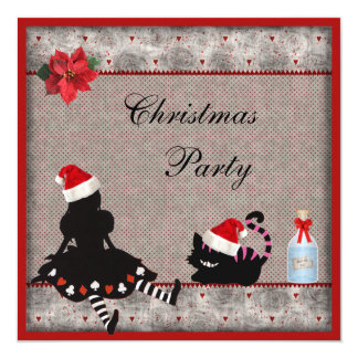 Alice & Cheshire Cat Christmas Party Invites