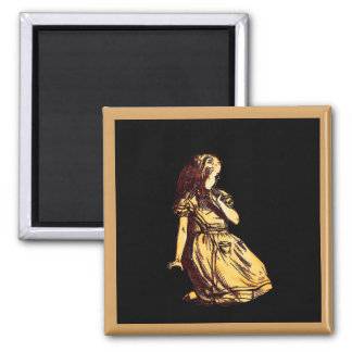 Alice Daydreaming Square Magnet