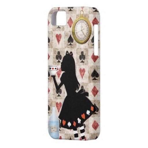 Alice Drinking Tea iPhone 5 Cases