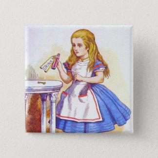 Alice Drinks Color 15 Cm Square Badge
