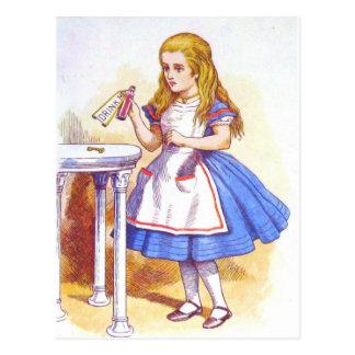Alice Drinks Color Postcards
