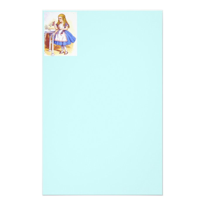 Alice Drinks Colour Customised Stationery