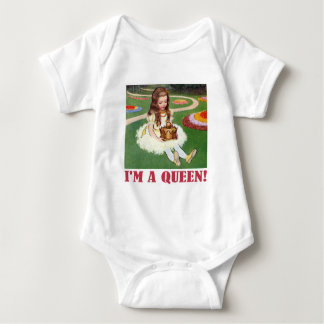 """Alice exclaims, """"I am a Queen!"""" Baby Bodysuit"""