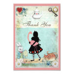 Alice, Flamingo & Cat Baby Shower Thank You Personalised Announcements