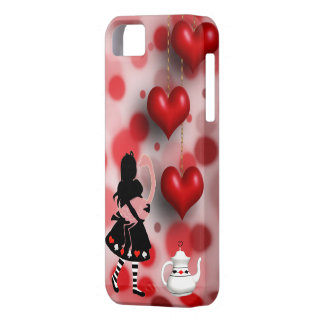 Alice & Flamingo Hearts & Teapot Barely There iPhone 5 Case