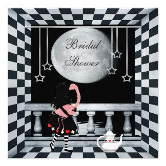 Alice Flamingo Moon Bridal Shower Personalized Invite