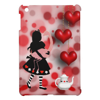 Alice & Flamingo Retro Hearts & Teapot Case For The iPad Mini