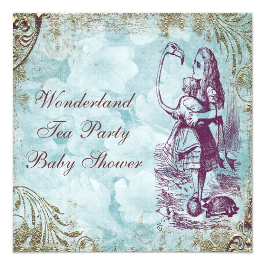 Alice & Flamingo Wonderland Baby Shower Tea Party