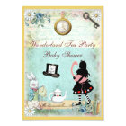 Alice & Flamingo Wonderland Baby Shower Tea Party Card