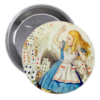 """Alice-Flying Deck Of Cards - 3"""" Button"""