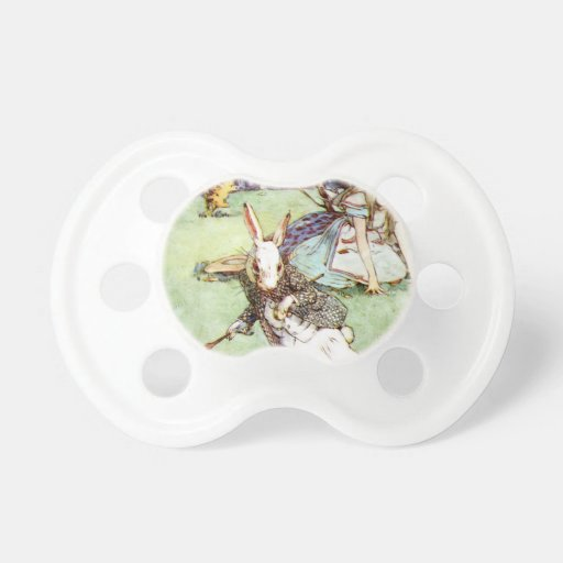 Alice Follows the White Rabbit To Wonderland Baby Pacifier