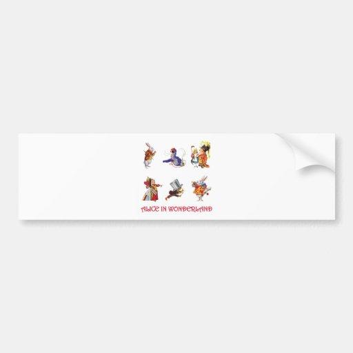 Alice & Friends from Wonderland Bumper Sticker