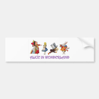 Alice & Friends in Wonderland Bumper Sticker