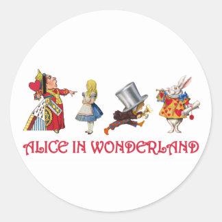 Alice & Friends in Wonderland Round Sticker