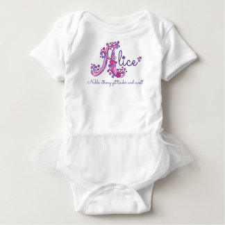 Alice girls name & meaning A monogram clothing Baby Bodysuit