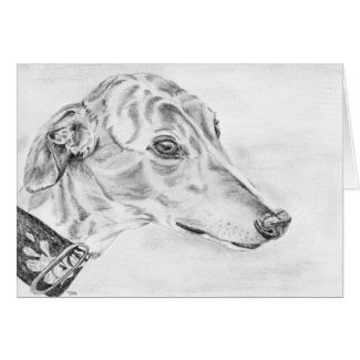 Alice - Greyhound art card (a10) title=