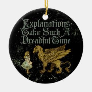 Alice Gryphon Explanations Round Ceramic Decoration
