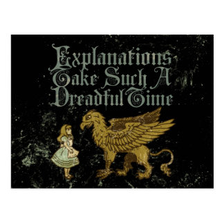Alice Gryphon Explanations Take Such A Dreadful Ti Postcard
