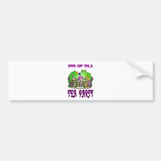 Alice has a Tea Party Car Bumper Sticker