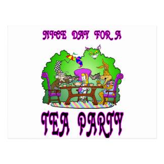 Alice has a Tea Party Postcard