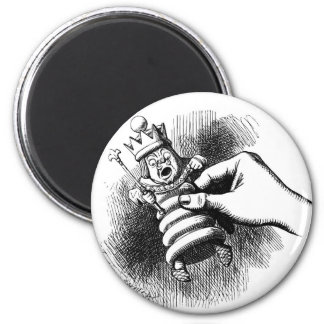 Alice holds the White King Magnet