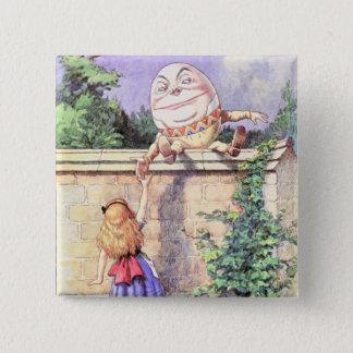 Alice & Humpty Color 15 Cm Square Badge