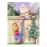 Alice & Humpty Colour Postcard