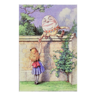 Alice & Humpty Dumpty Full Color Poster