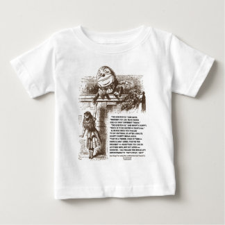 Alice Humpty Dumpty Wonderland Conversation Quote Baby T-Shirt