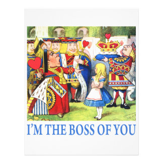 ALICE - I'M THE BOSS OF YOU FLYER